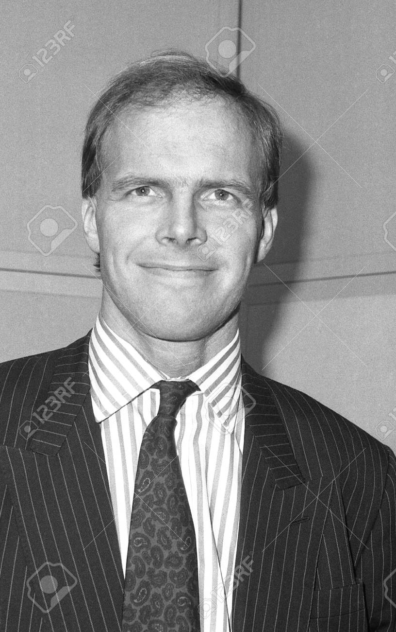 London, England - December 12, 1990 - Martin Winters, Conservative party Parliamentary Candidate for Tooting, attends a photo call at Conservative Central Office. Stock Photo - 13824340