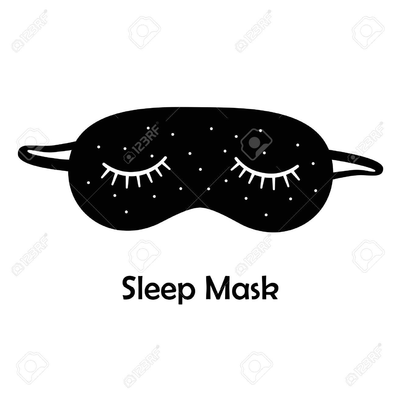 4ba5642a7e7 Black sleep mask   Sleeping mask on a white background Stock Photo -  55506358