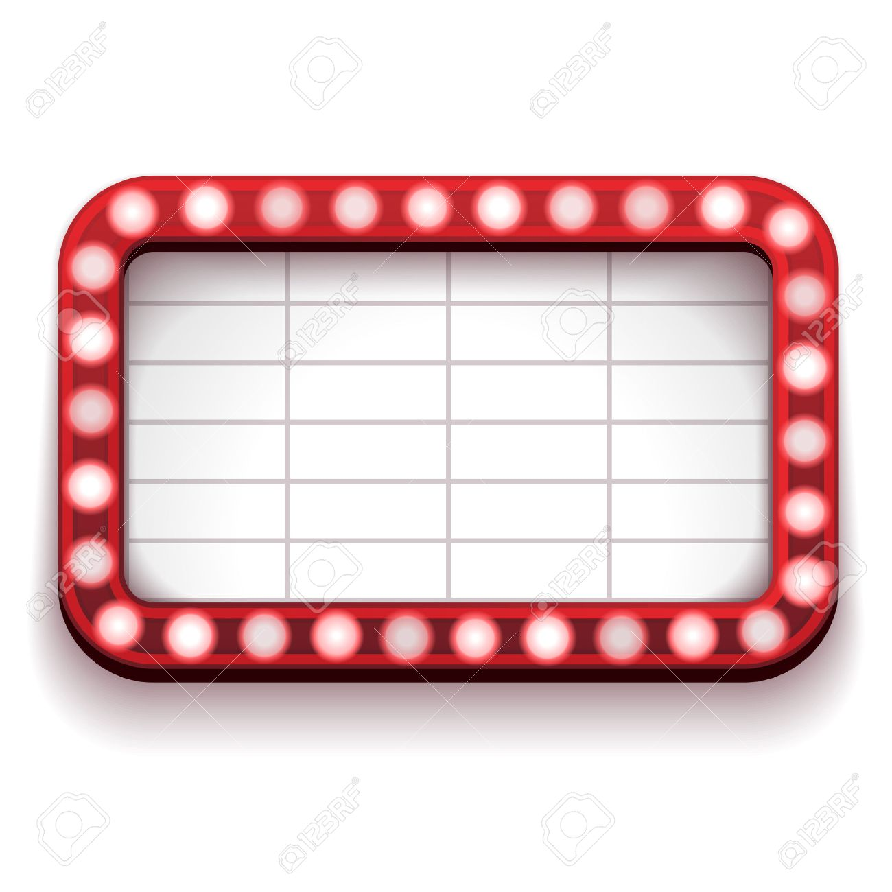 a red theater sign with lights on the border royalty free cliparts rh 123rf com