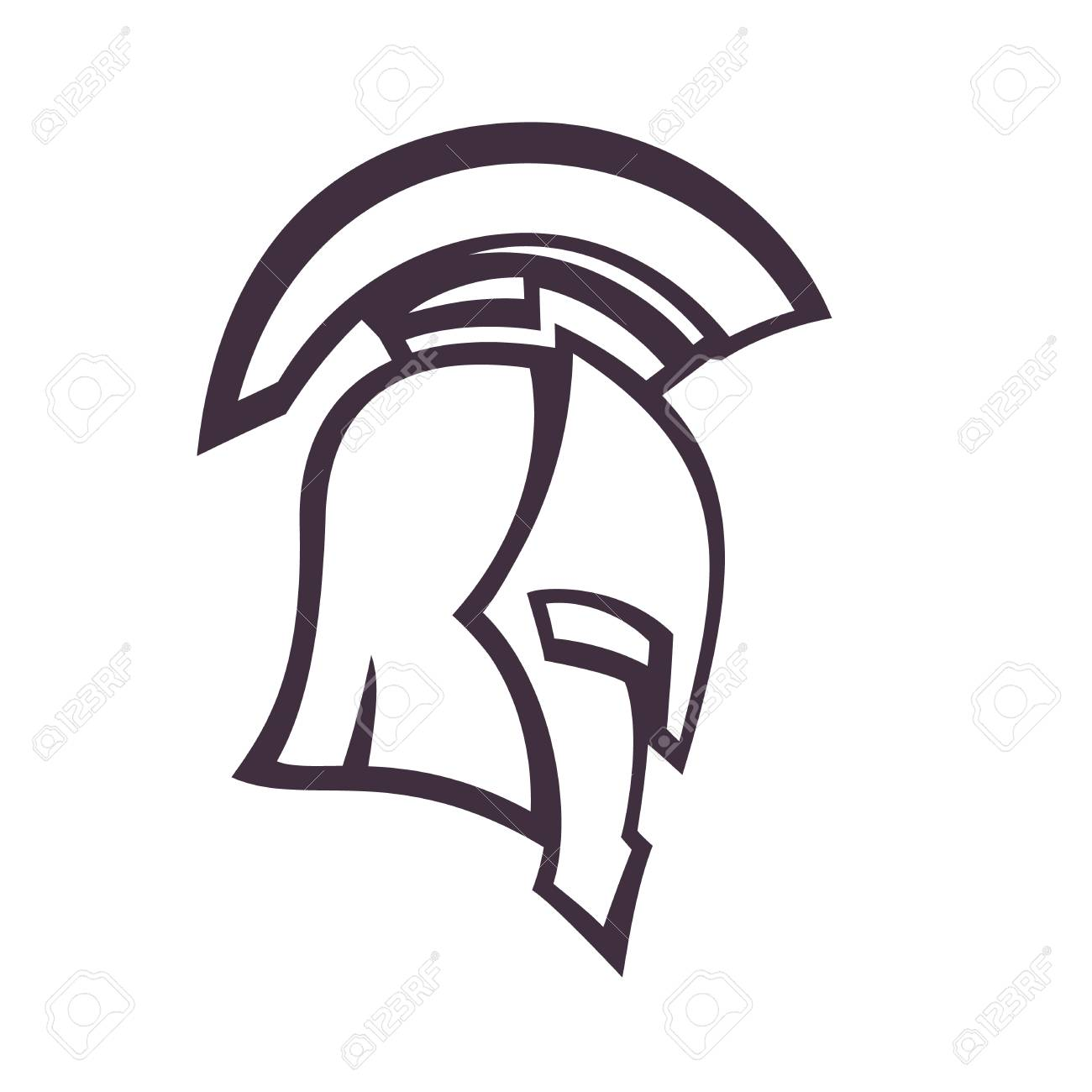 Spartan Helmet Side View Vector Illustration Eps10 Easy To