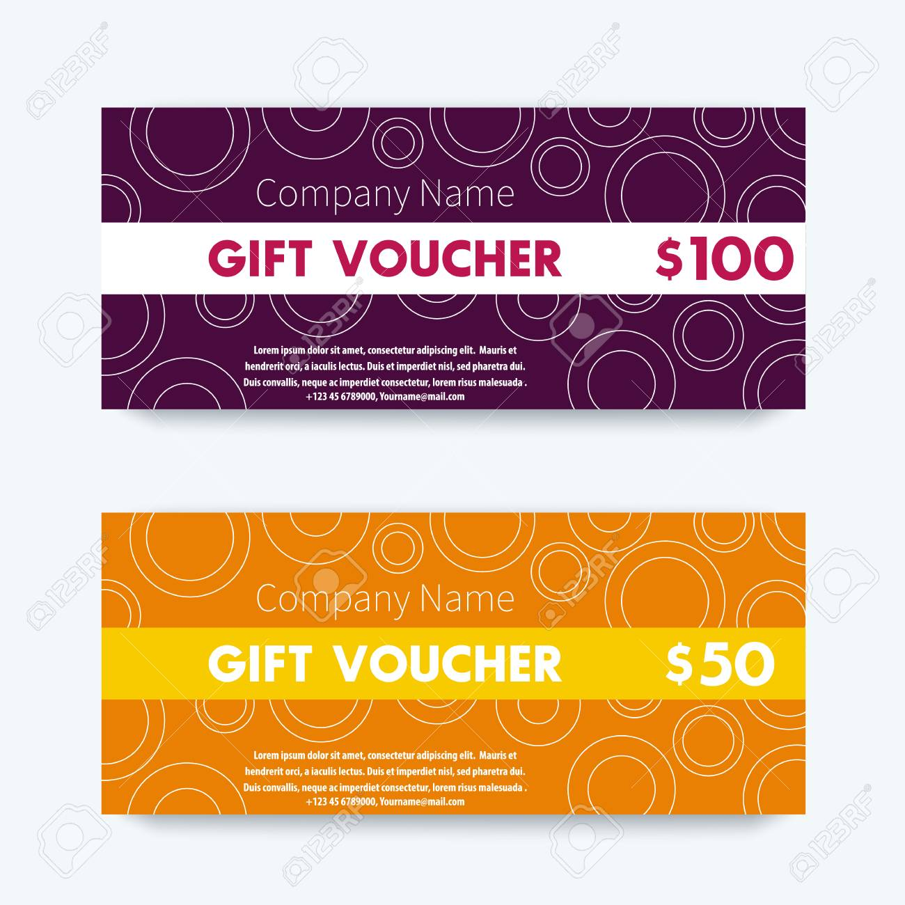 gift voucher design gift vouchers template vector illustration