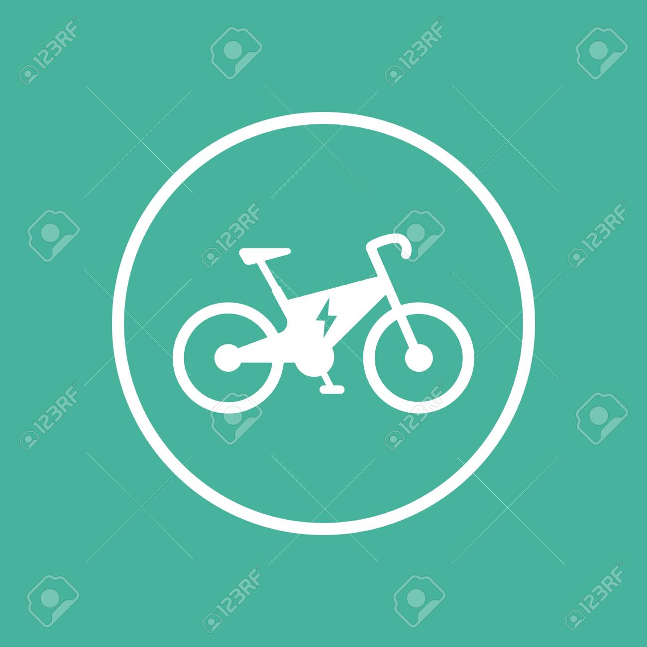 Elektro-Fahrrad-Symbol, ökologische Transport, Elektrische Fahrrad ...
