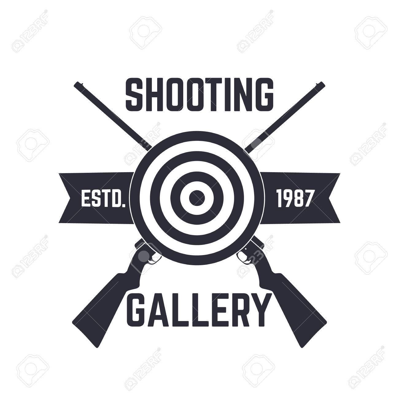 Disparos Plantilla De Logotipo Galería, Firmar Con Rifles Cruzados ...