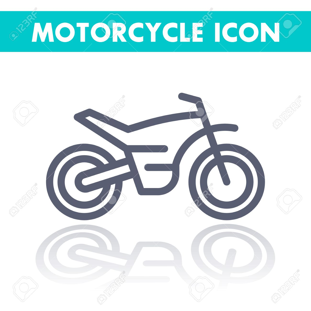 Offroad Bike Motorcycle Linear Icon Motocross Pictogram Line Royalty Free Cliparts Vectors And Stock Illustration Image 57681109