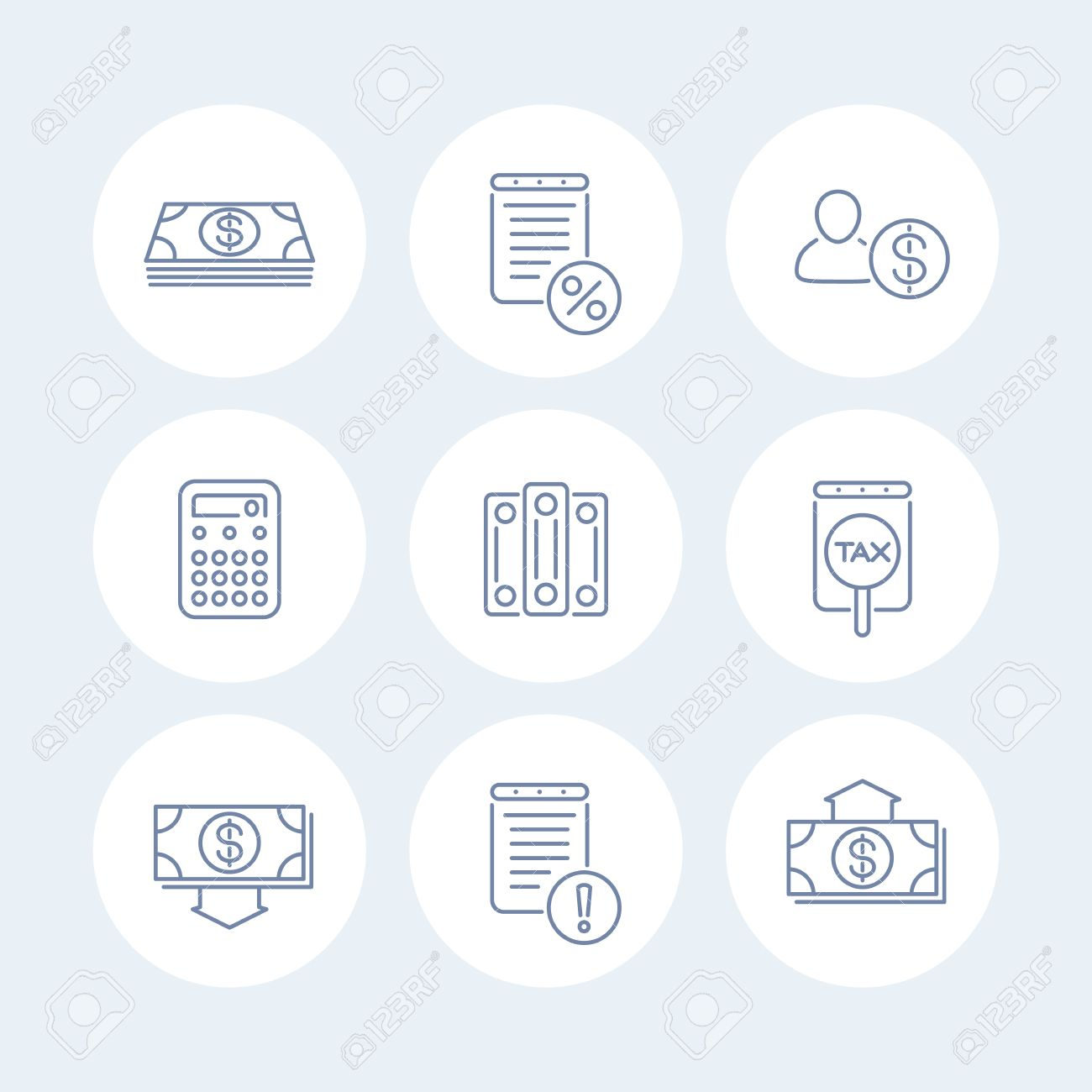 Tax Accounting Icons