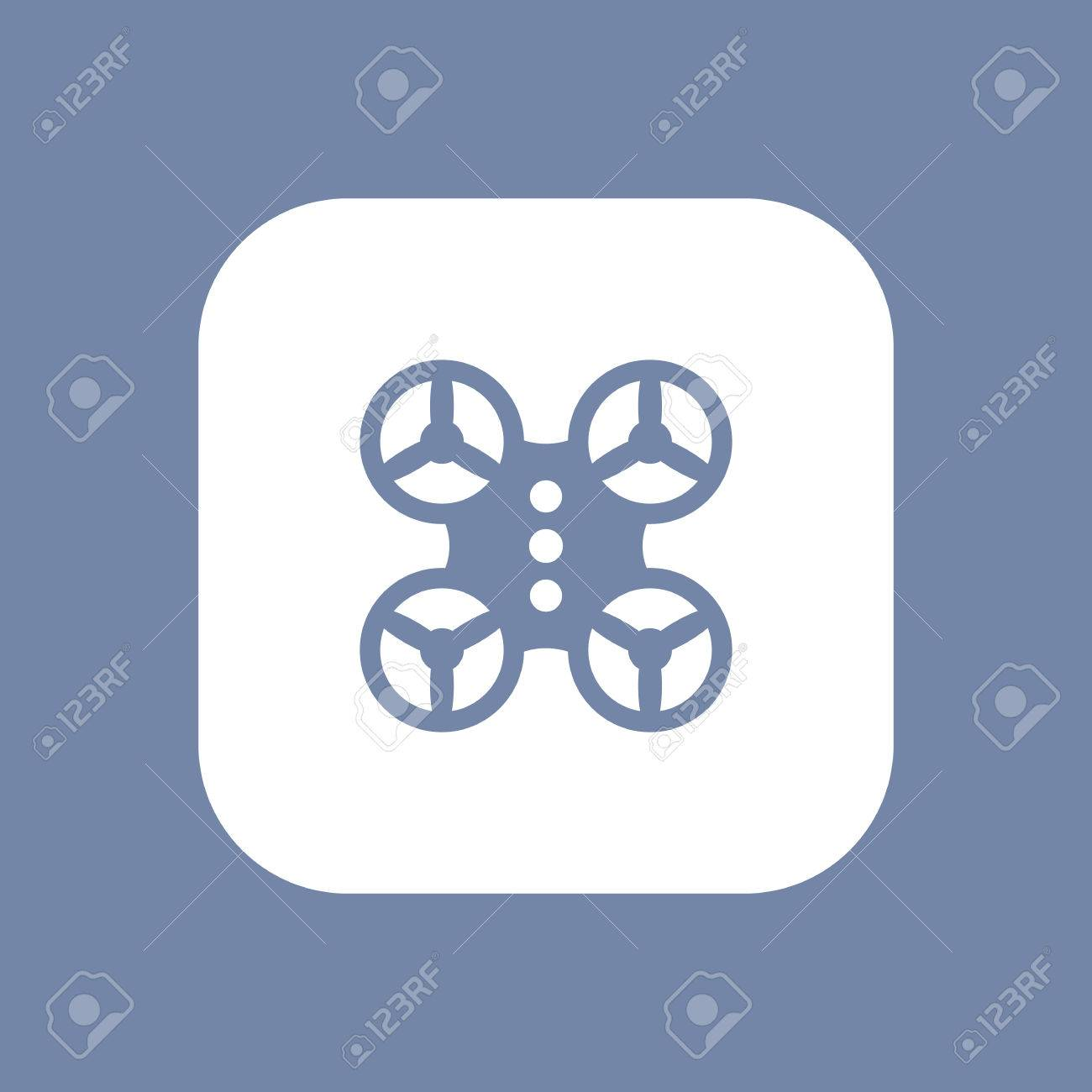 Quadrocopter Drone Icon Sign Delivery Logo Element Uav