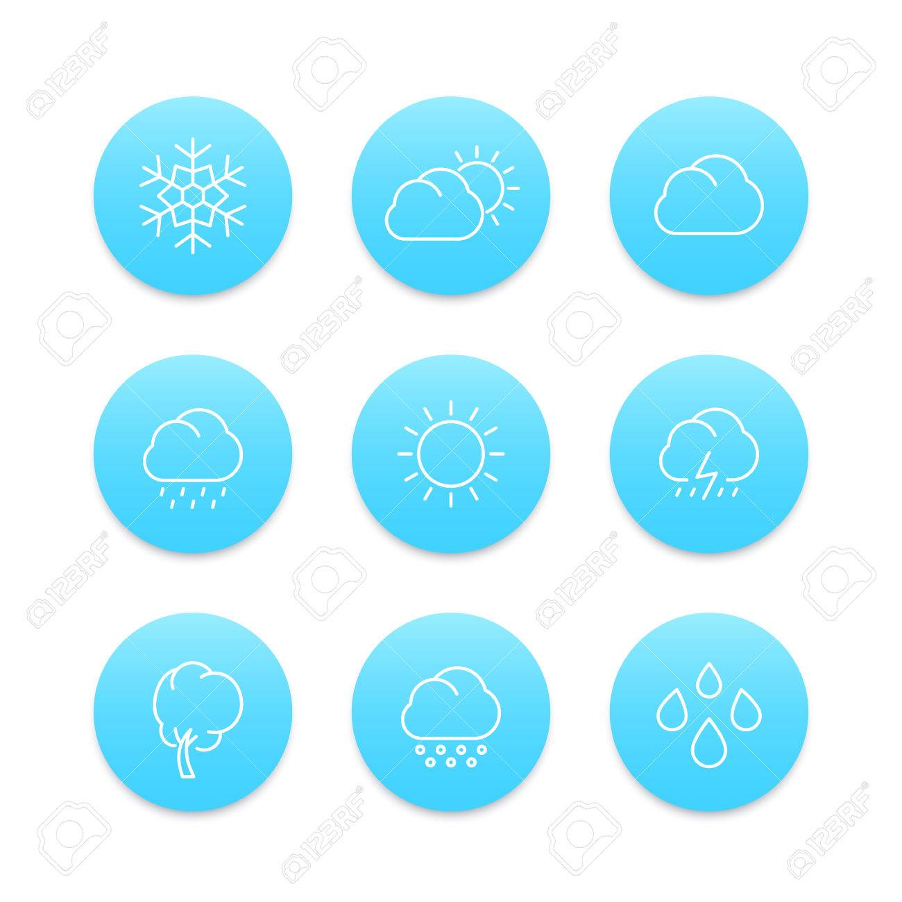 weather line icons rain snowflake hail wind sun snow vector rh 123rf com snow victoria radar snow victory