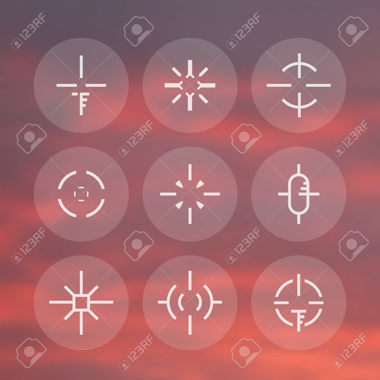Crosshairs Pack Elements For Game Design Stock Vector 65604527
