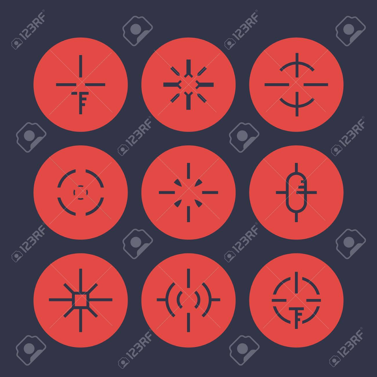 Crosshairs Elements For Game Design Set 2 Stock Vector 67271636