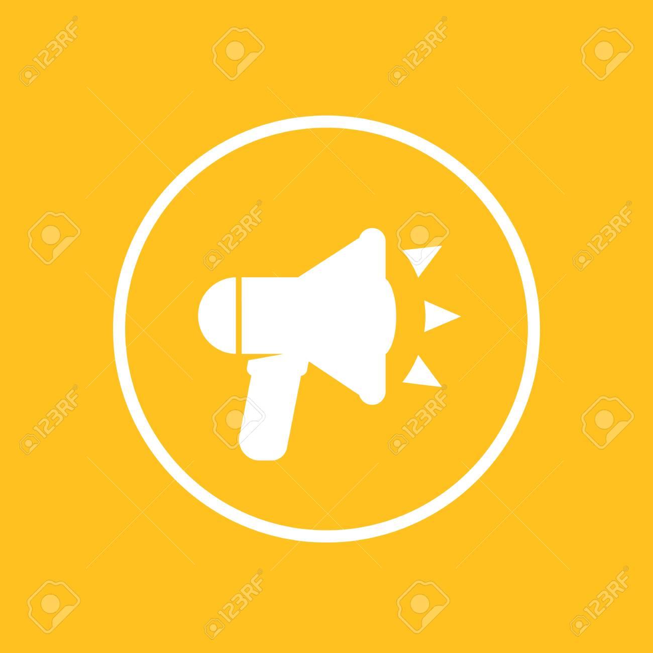 Loudspeaker icon in circle megaphone bullhorn sign royalty free loudspeaker icon in circle megaphone bullhorn sign stock vector 69811974 publicscrutiny Gallery