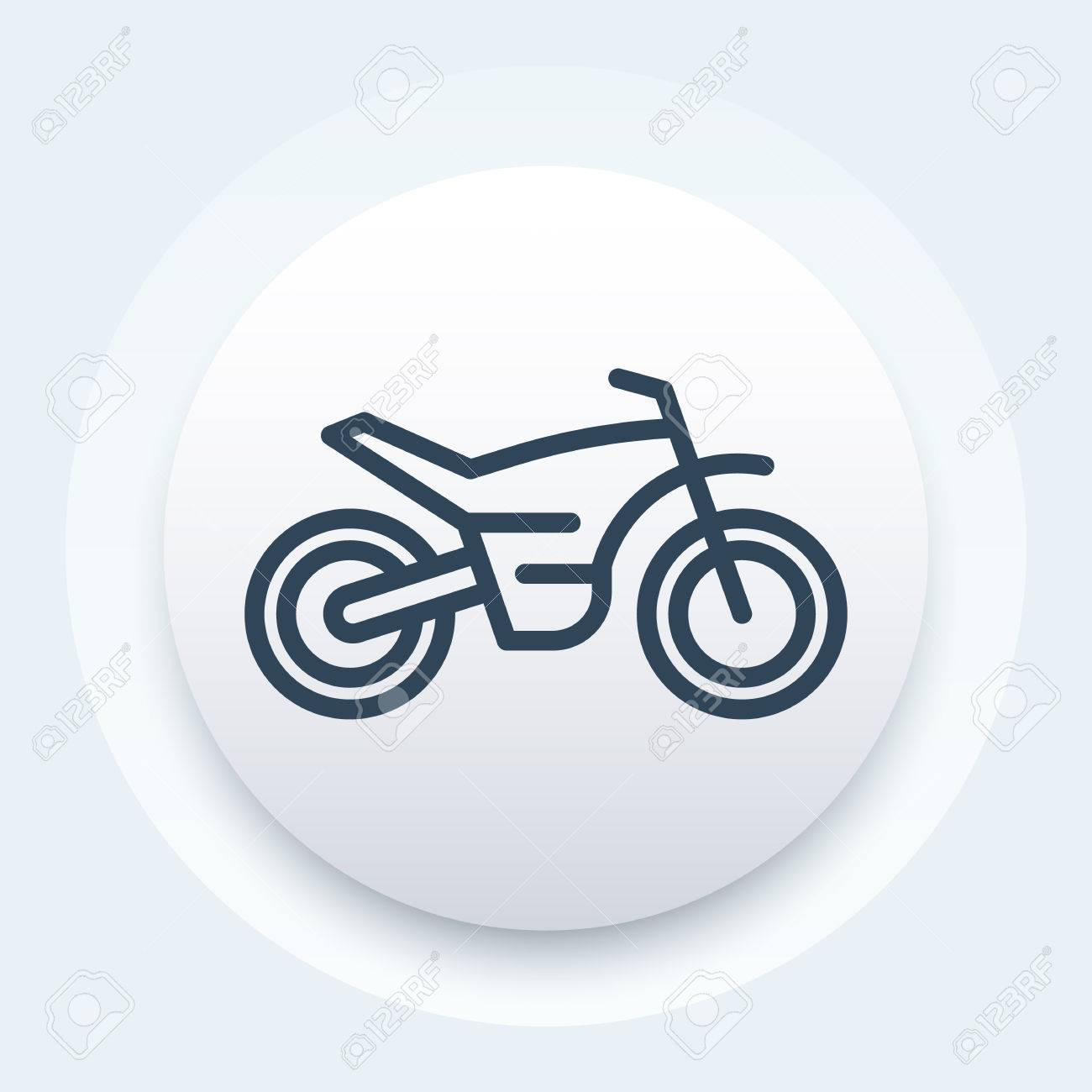 Offroad Bike Motorcycle Motocross Line Icon Vector Illustration Royalty Free Cliparts Vectors And Stock Illustration Image 69815070
