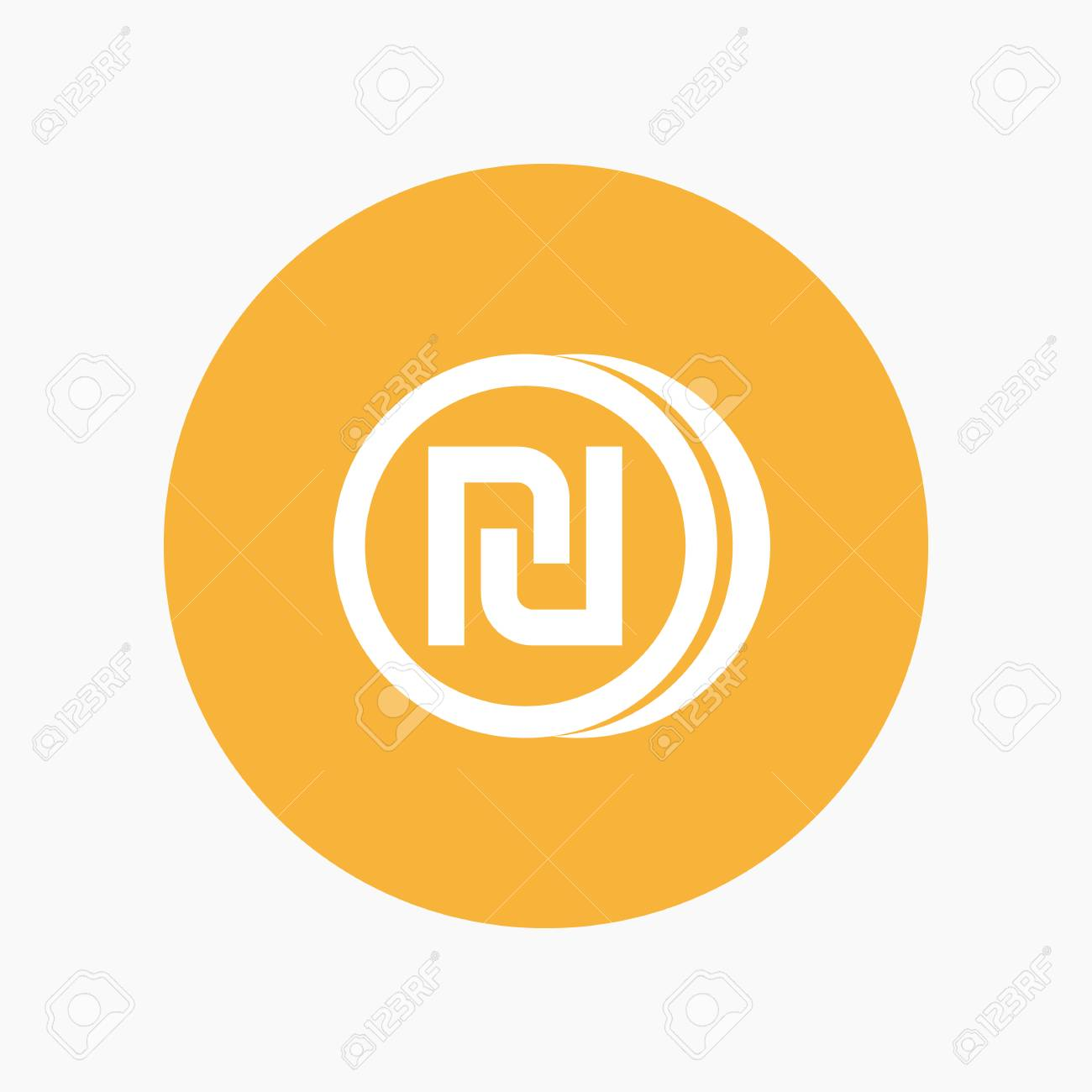 Shekel Coin Icon Israeli Currency Symbol Royalty Free Cliparts