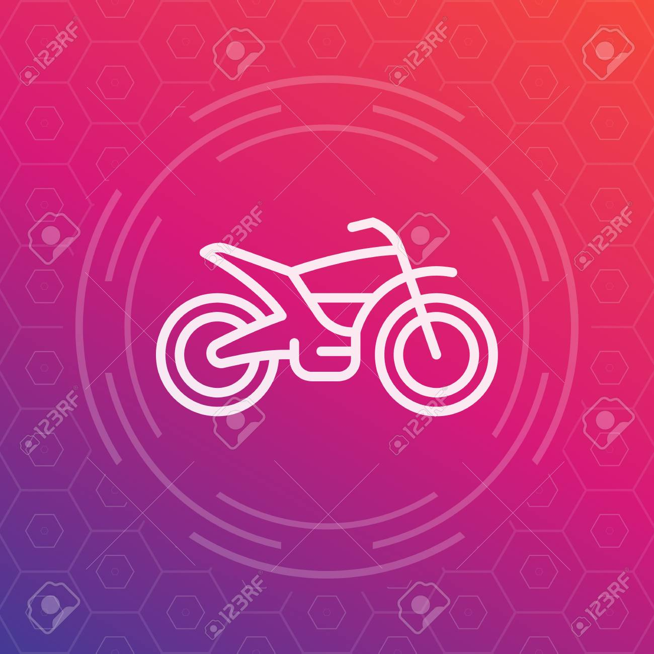 Offroad Bike Motorcycle Linear Icon Vector Pictogram Royalty Free Cliparts Vectors And Stock Illustration Image 78865429
