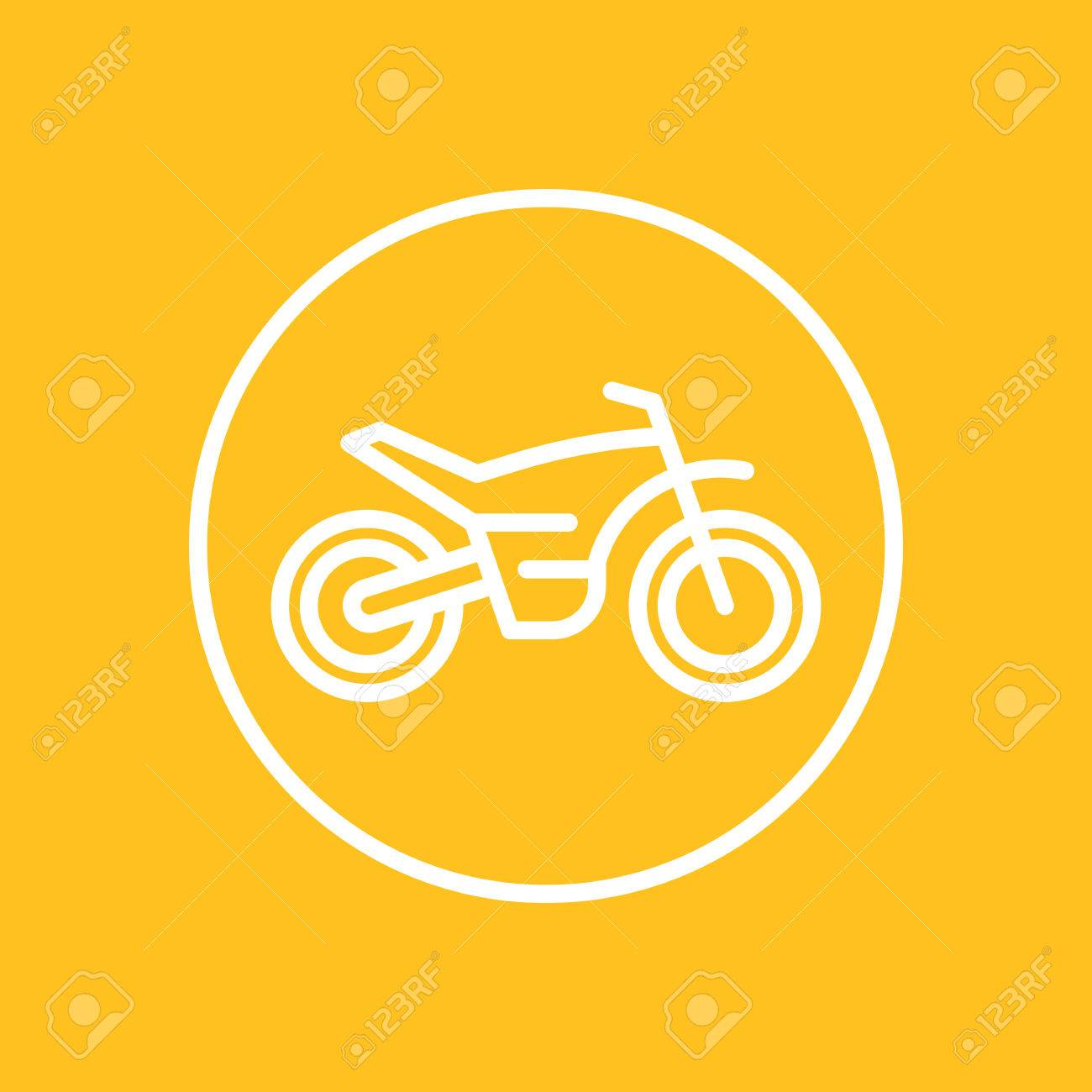 Offroad Bike Motorcycle Line Icon In Circle Motocross Symbol Royalty Free Cliparts Vetores E Ilustracoes Stock Image 79510392