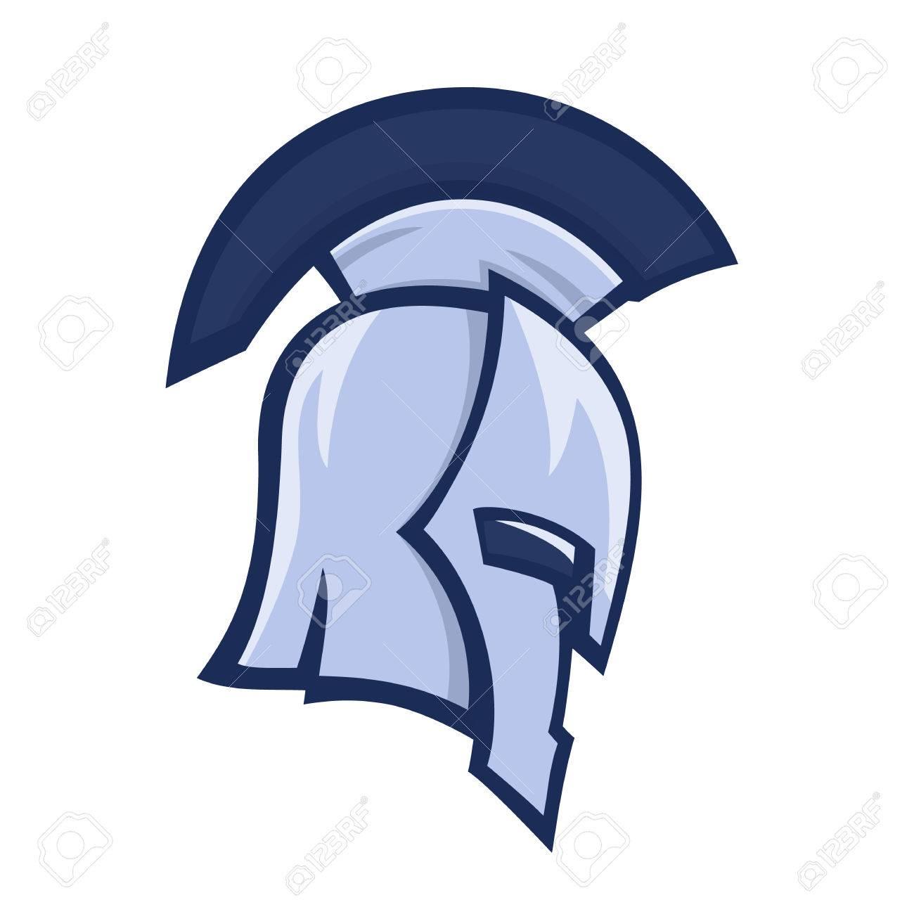spartan helmet greek warrior logo element over white royalty free rh 123rf com michigan state spartan head logo msu spartan head logo