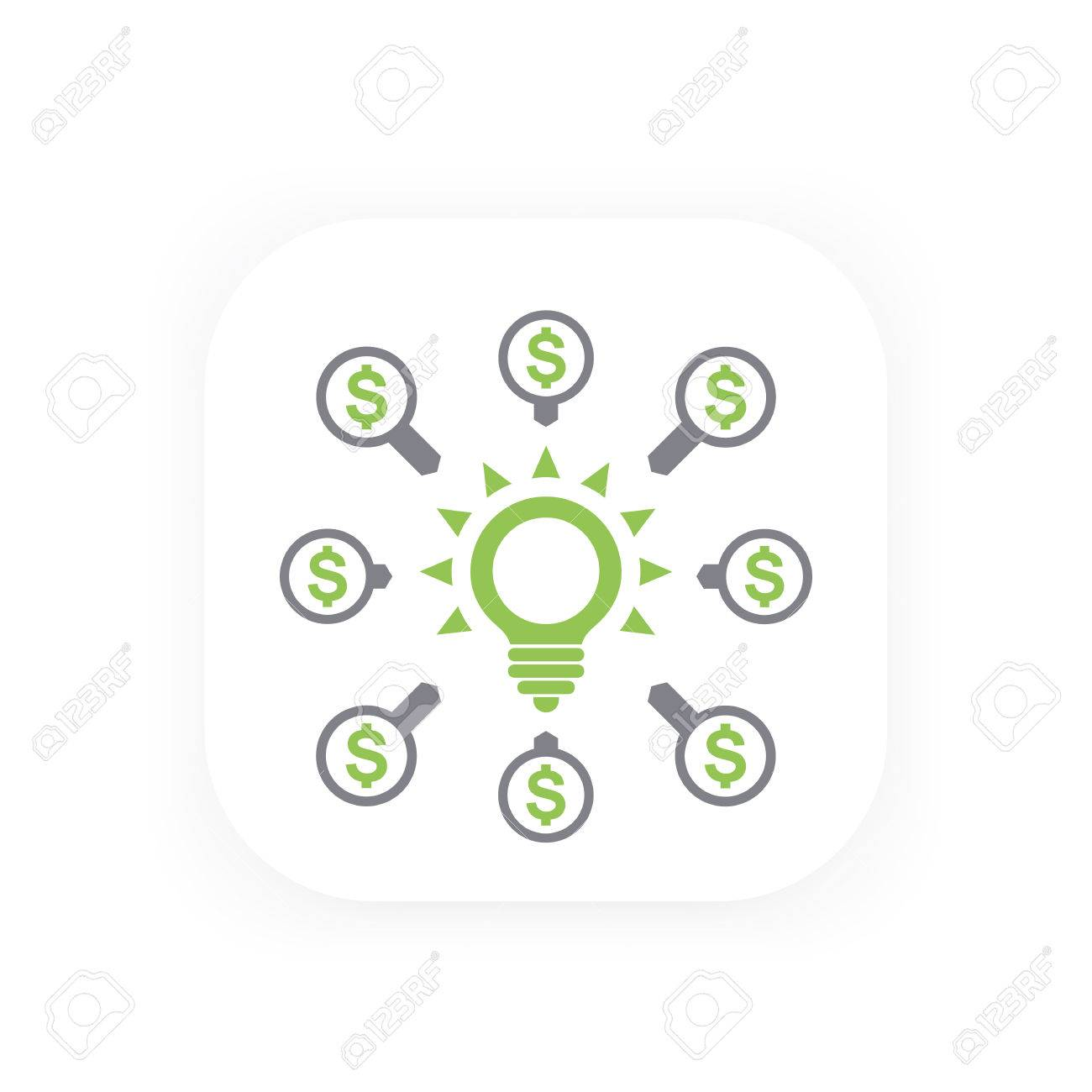 crowdfunding contributions icon royalty free cliparts vectors and