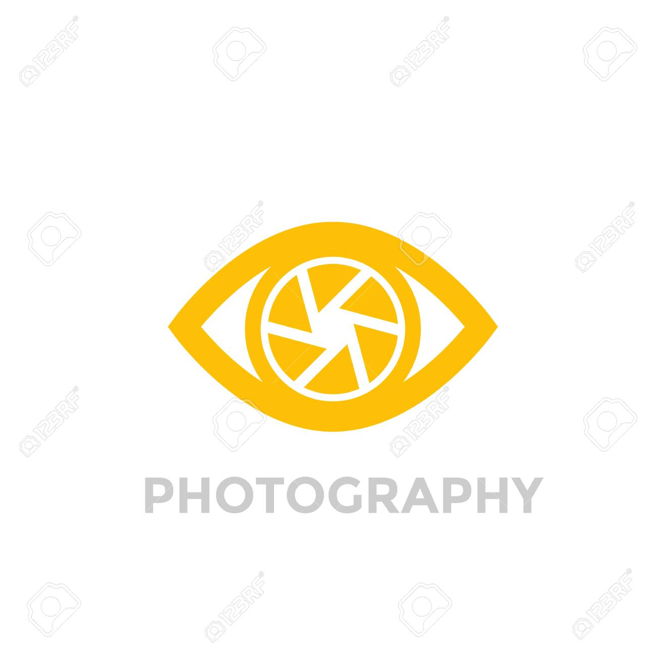 eye with aperture symbol, photography vector logo - 89552973