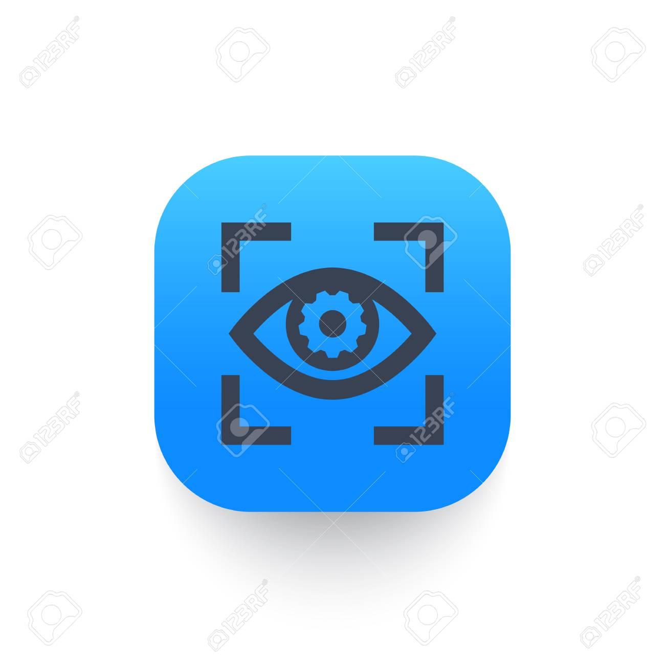 eye with gear icon, symbol - 90146304