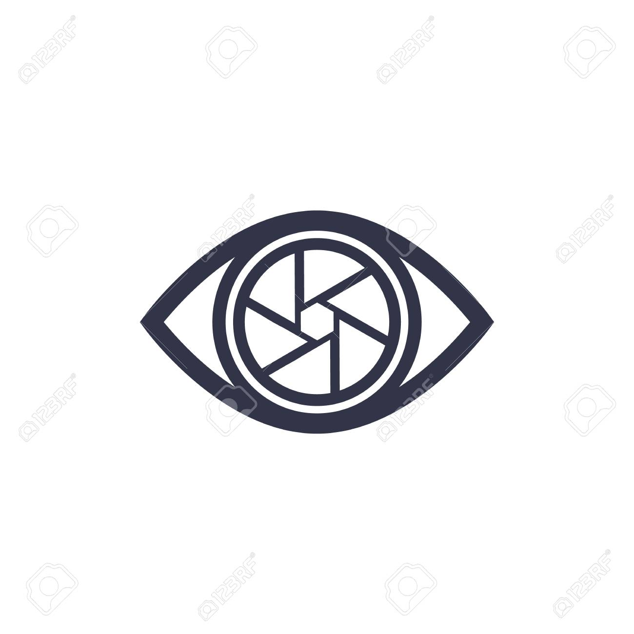 Eye with aperture icon - 91690022
