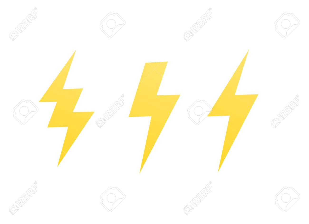 11 Lightning Bolts, Vector Signs On White Royalty Free Cliparts ...