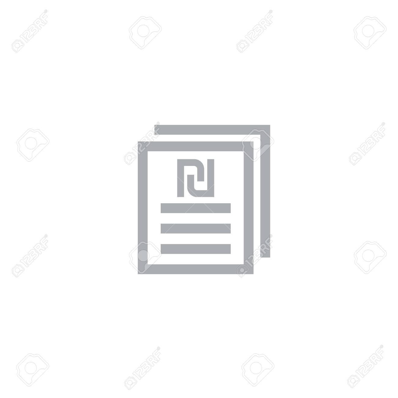 payroll icon documents with shekel sign stock vector 93448867