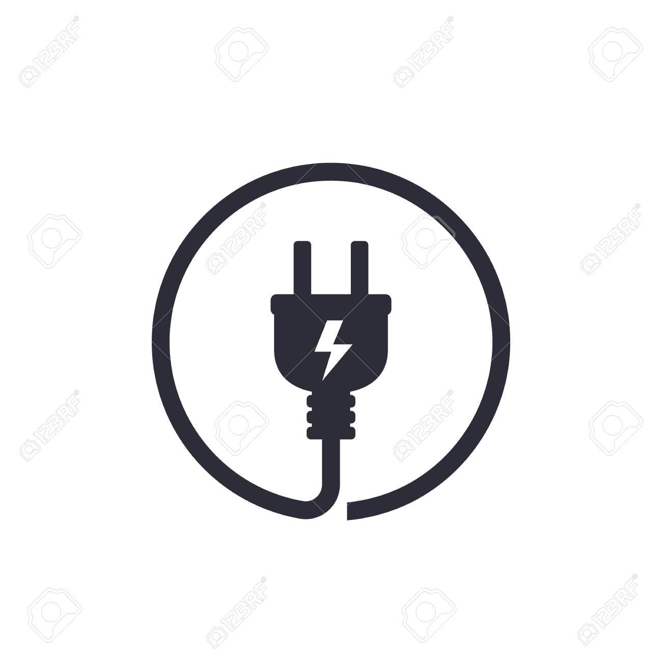 Electric plug icon - 99184973