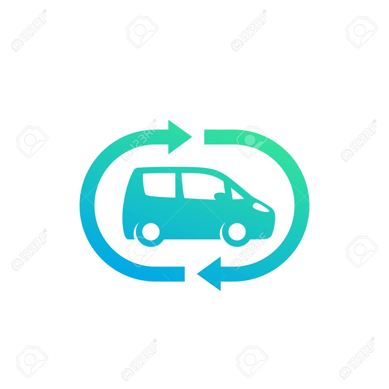 Carsharing Service Icon Vector Logo Design