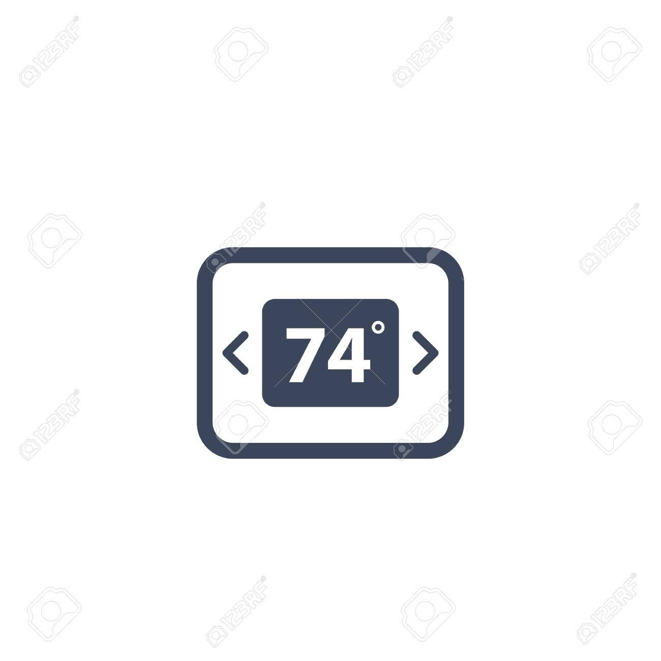 digital thermostat icon on white royalty free cliparts vectors and