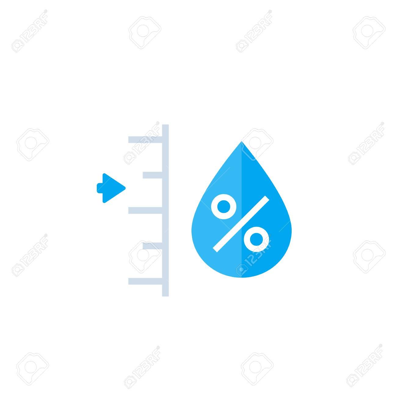 humidity level vector - 110297670