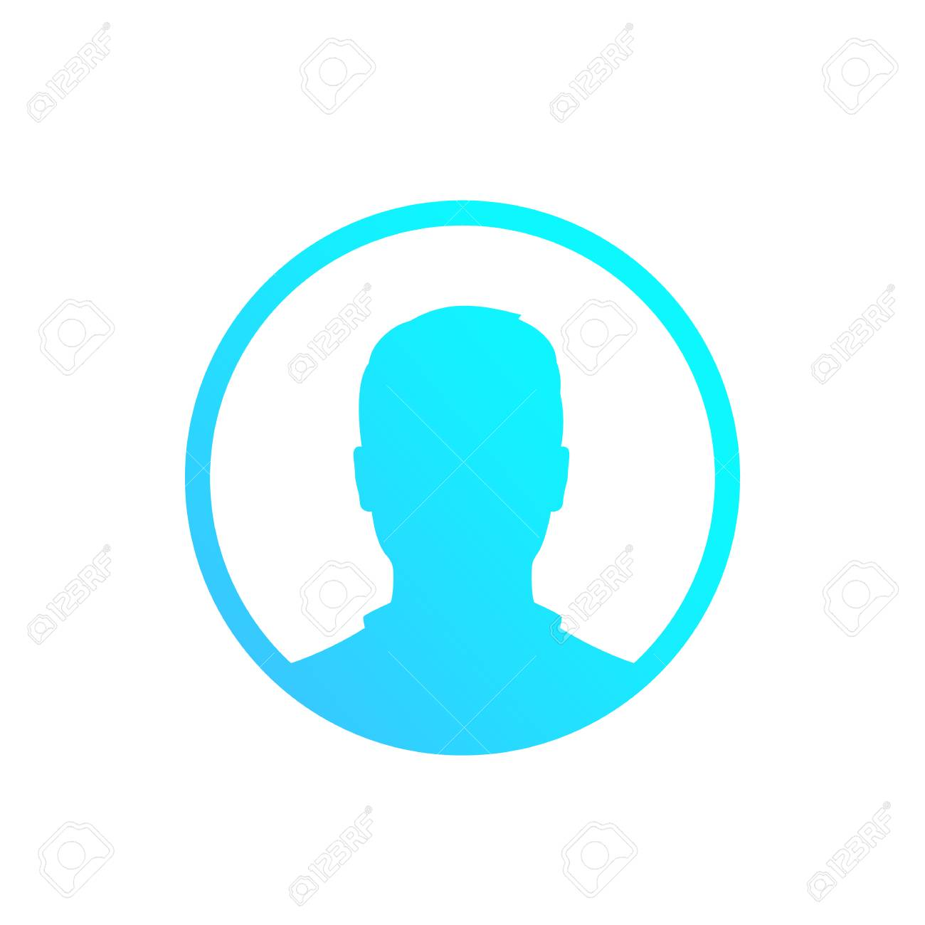 Default avatar, placeholder, profile icon, male