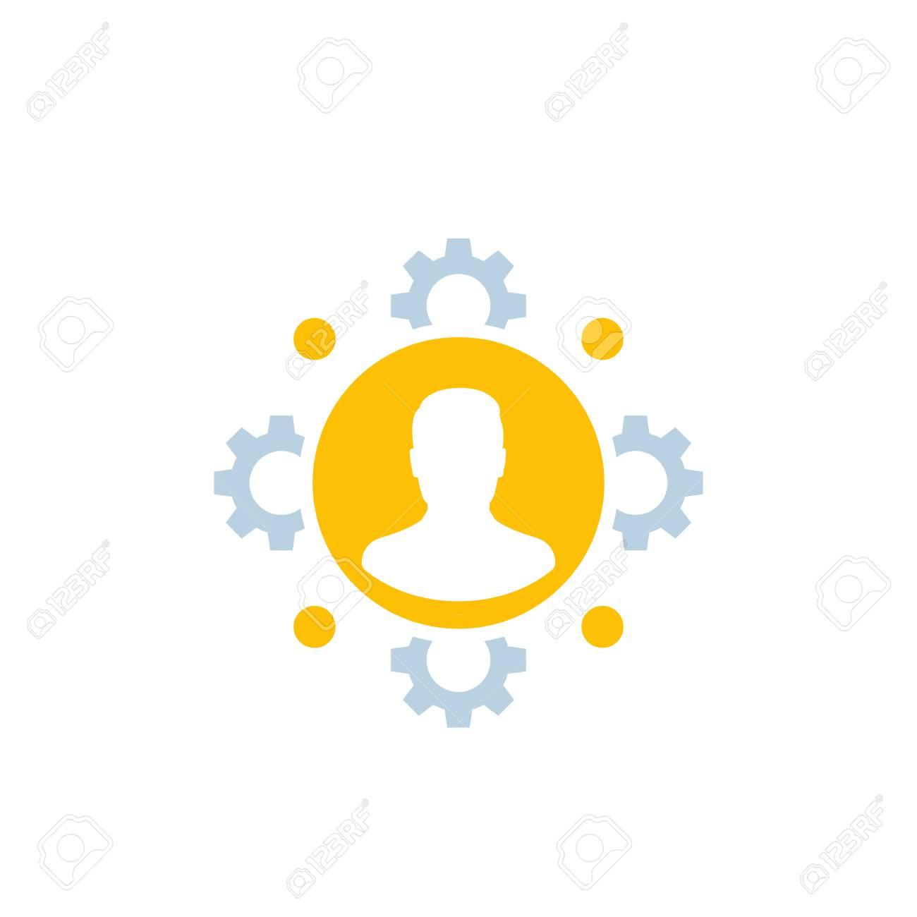 HR, human resources, staff management icon - 126783399