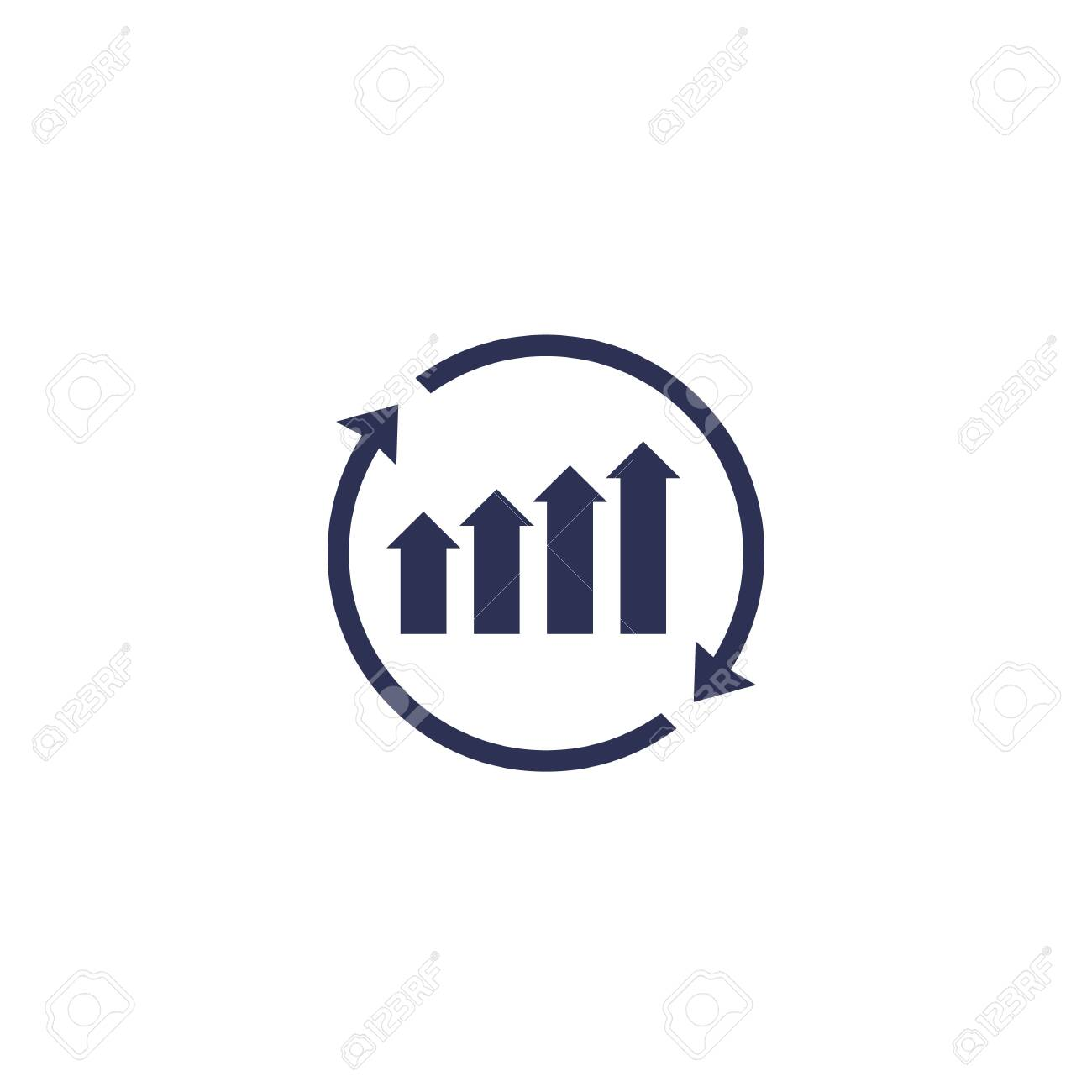 continuous growth icon - 123757792