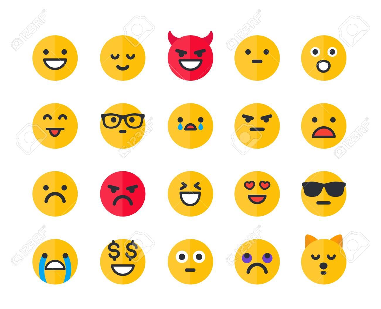 Emoticons, emoji vector icons set - 148604990