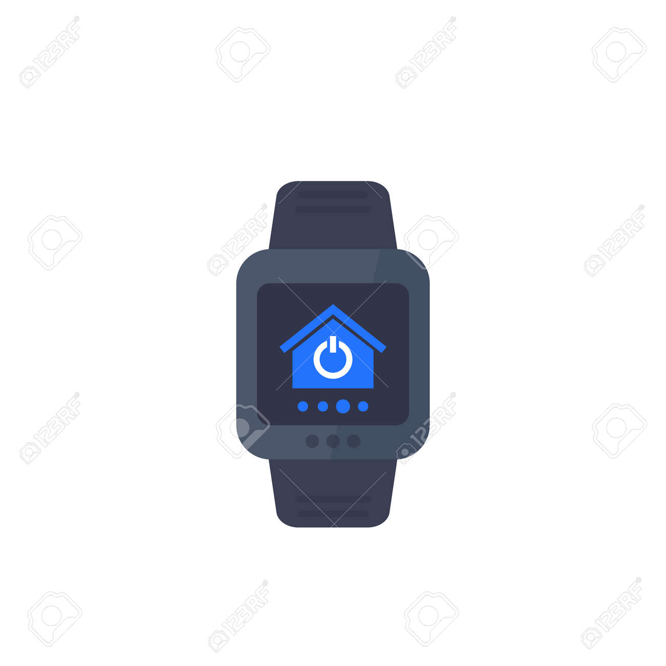 smart home app for smartwatch, vector icon - 169350854