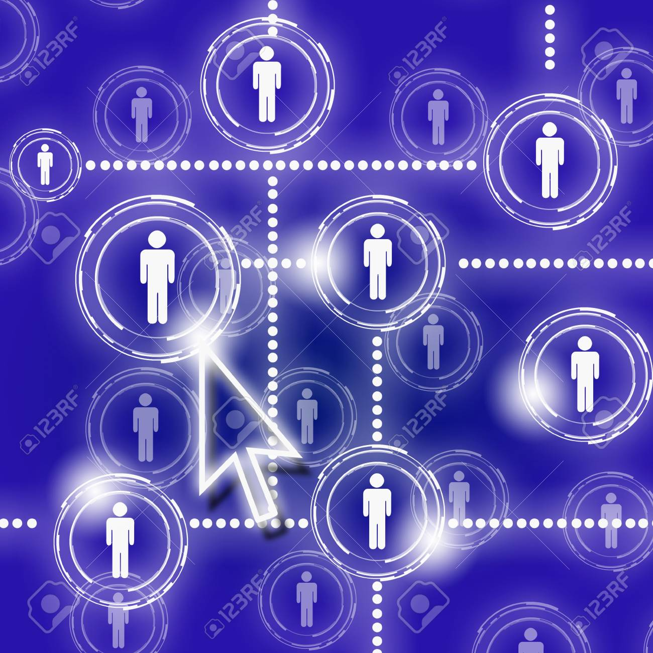 human figures as a symbol of social network Stock Photo - 11794048