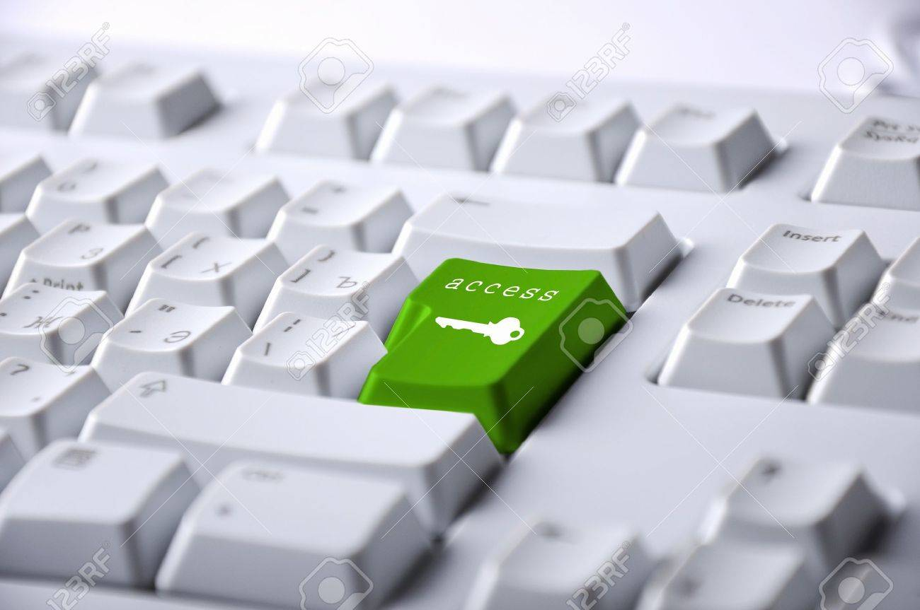 Computer keyboard with access symbol on it Stock Photo - 12561559