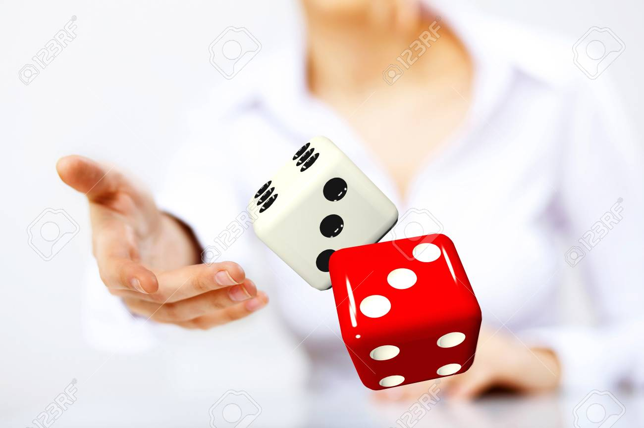 Image of a flying dice as symbol of risk and luck Stock Photo - 13085570