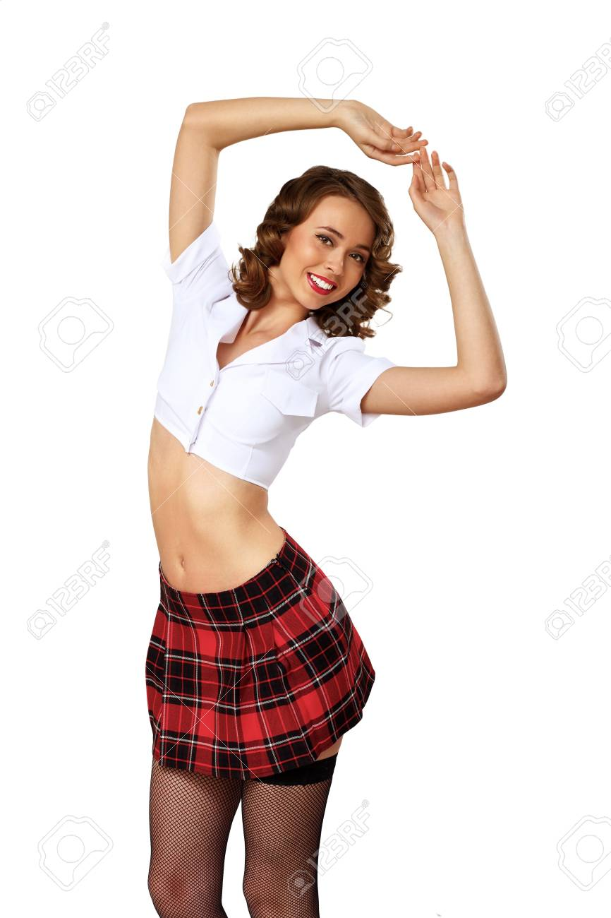 Portrait of a young pretty woman dressed in retro style Stock Photo - 13191983