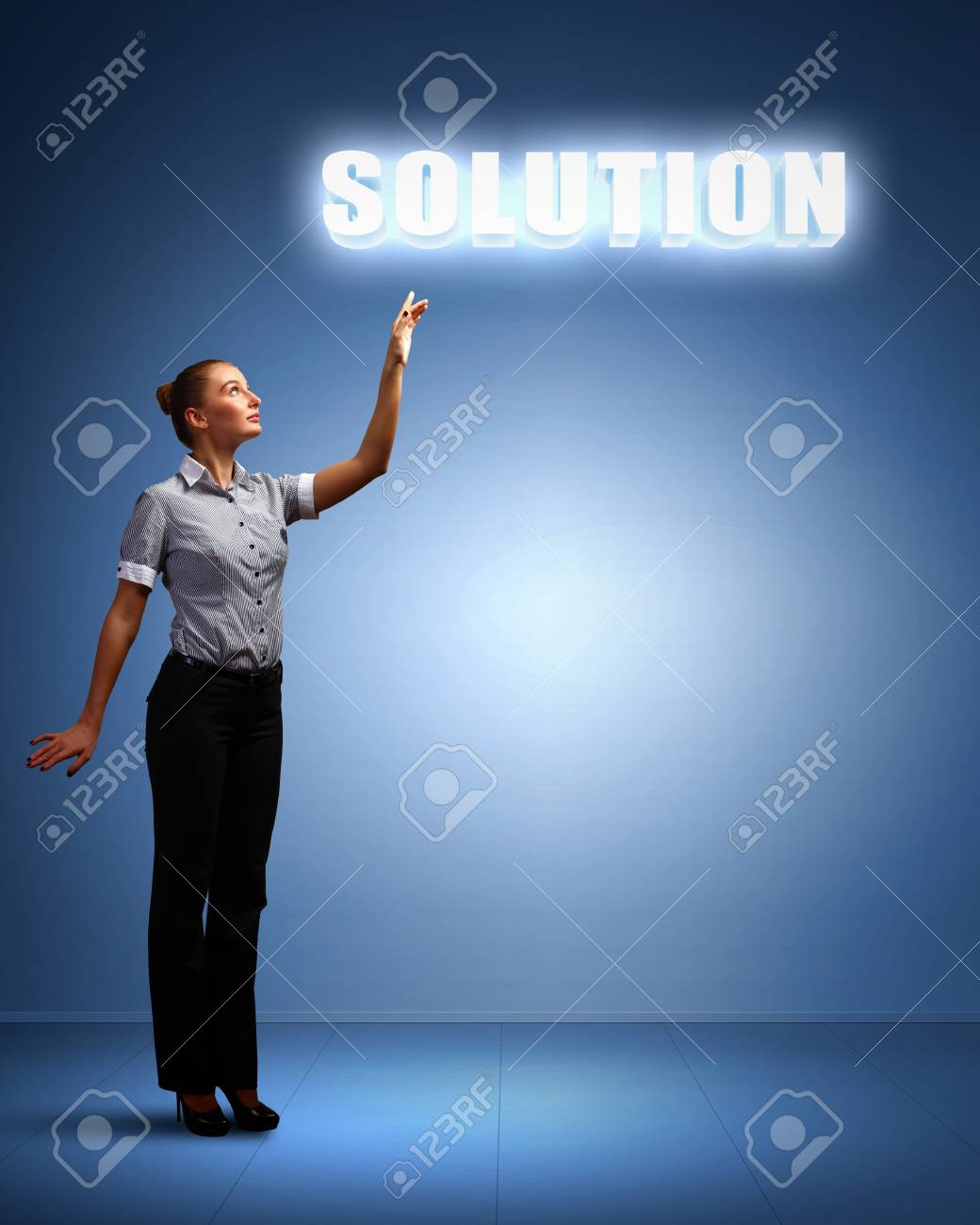 Light bulb and a business person as symbols of creativity in business Stock Photo - 14153715