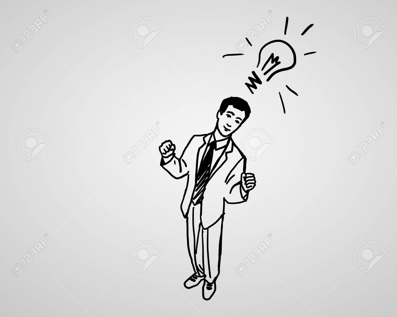 Drawing about creativity and success in business Stock Photo - 14133823