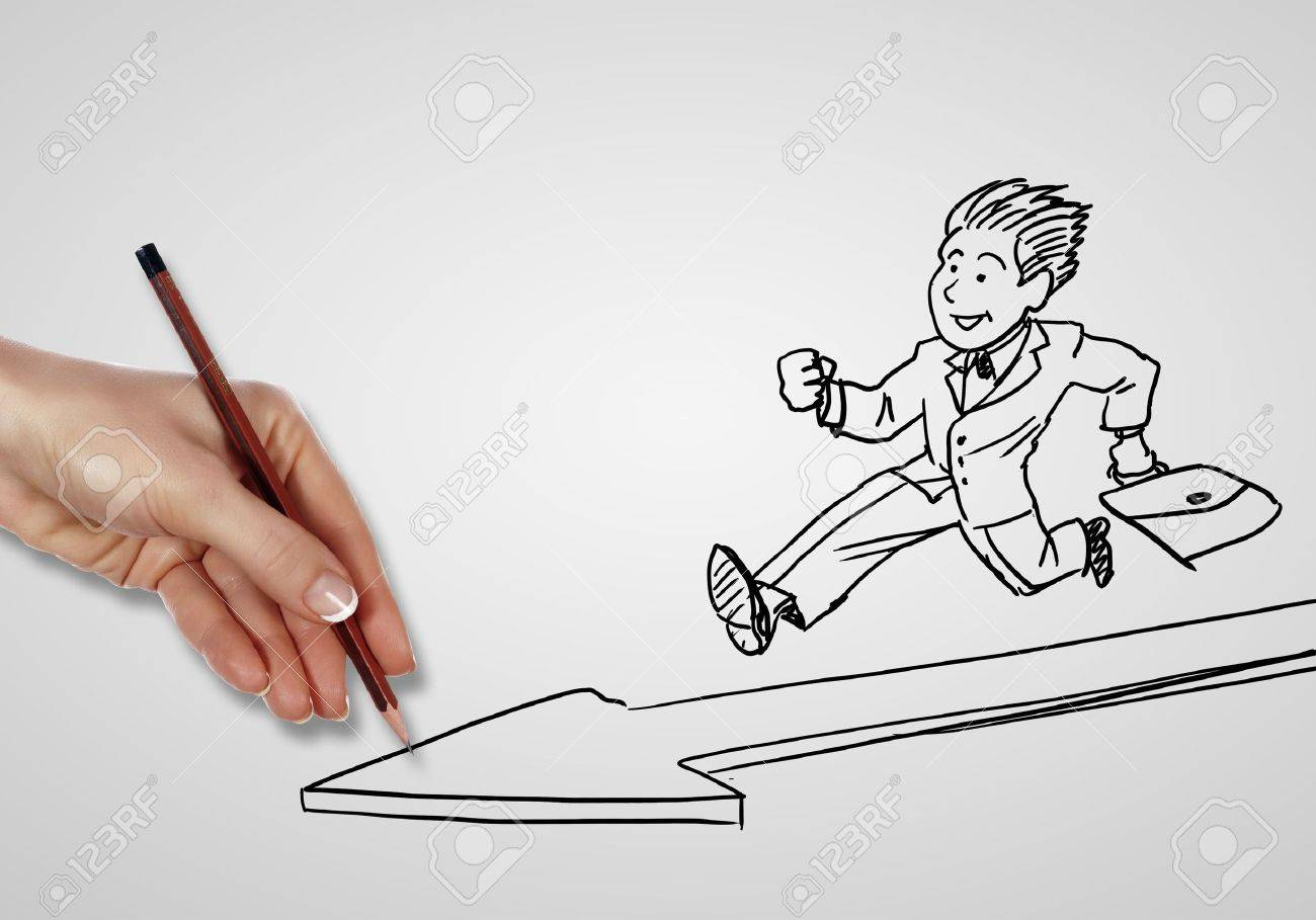 Drawing about creativity and success in business Stock Photo - 14621981