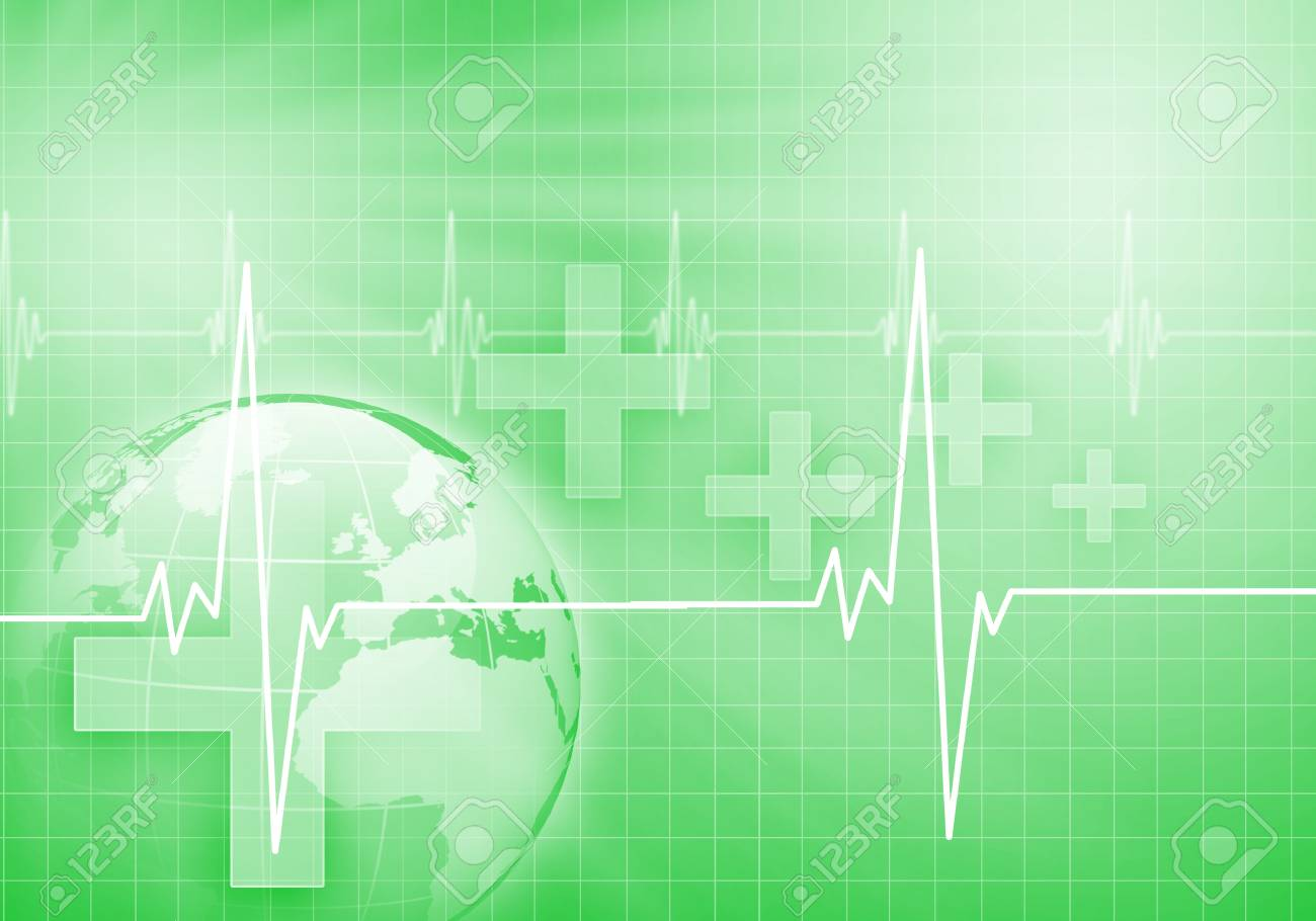 Image of heart beat against colour background Stock Photo - 15187135