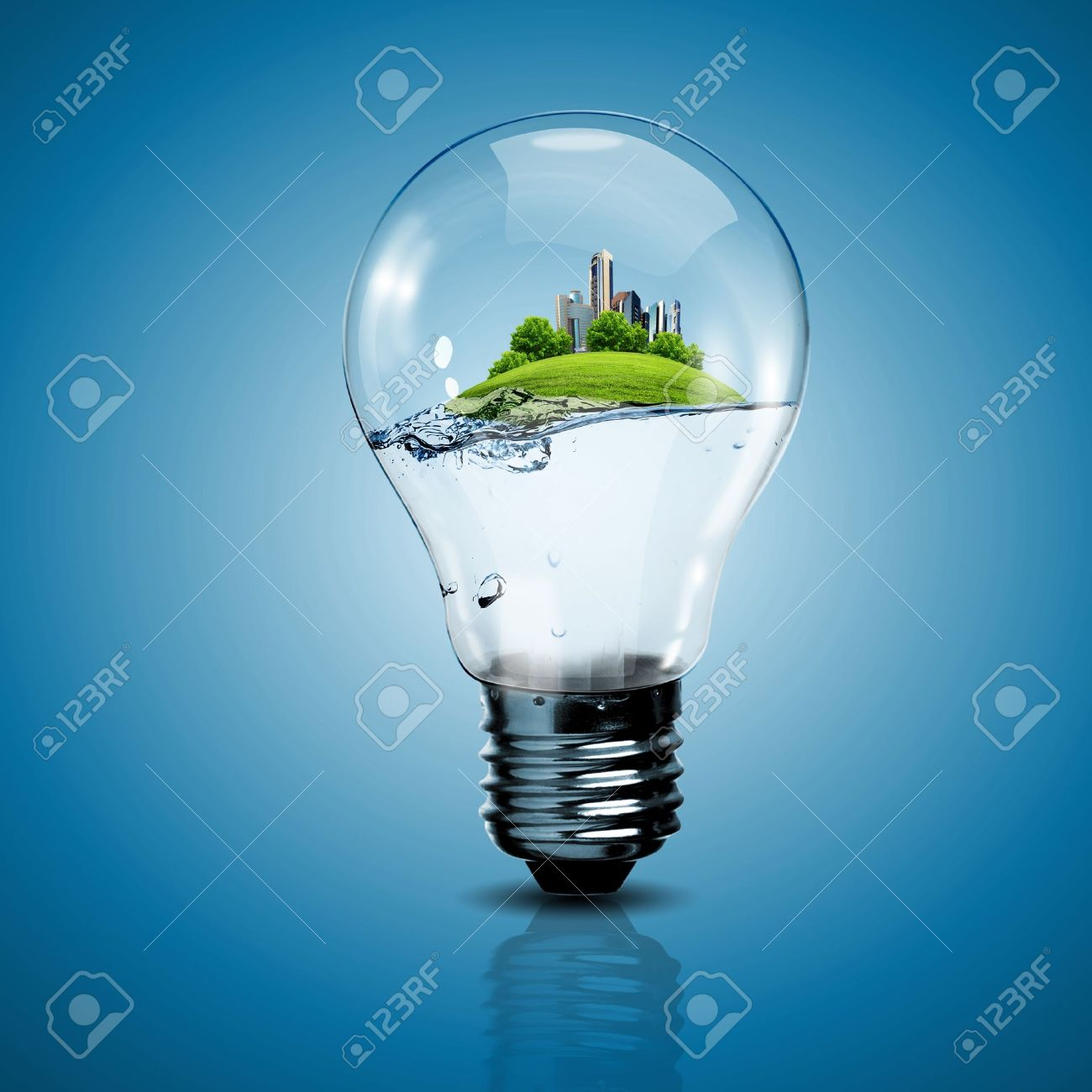 Electric light bulb and a plant inside it as symbol of green energy Stock Photo - 14909877