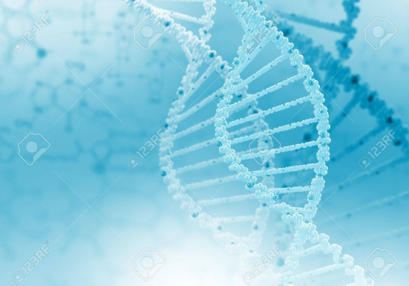 Image of DNA strand against colour background Stock Photo - 14911373