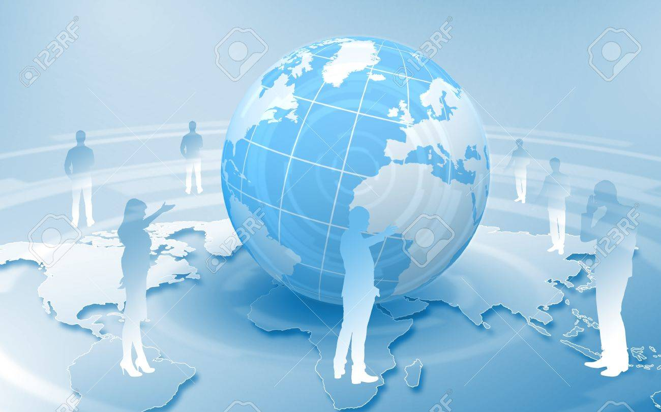 Image of our planet as symbol of social networking Stock Photo - 15539271