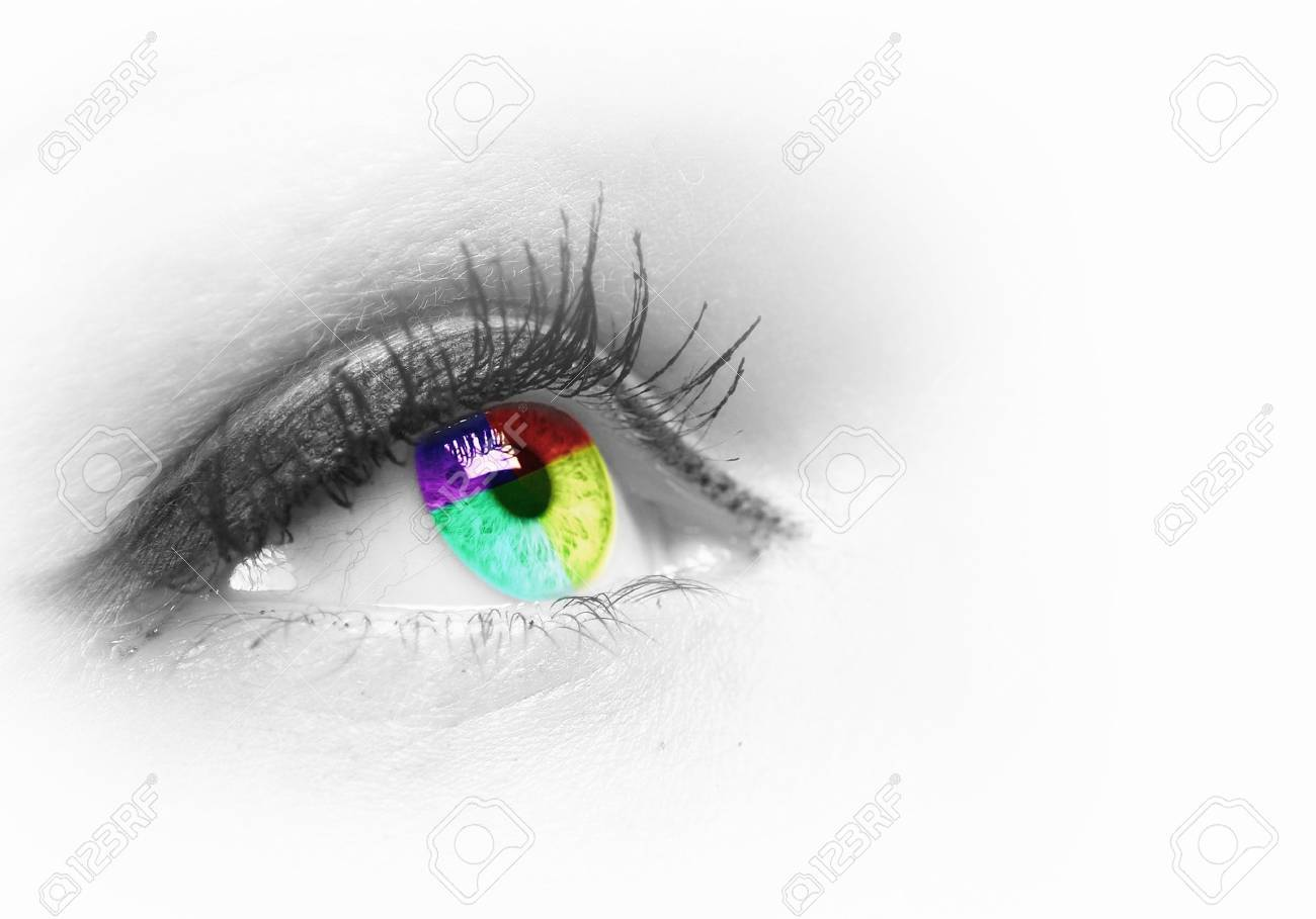 Photo of the human eye against grey background Stock Photo - 15628209