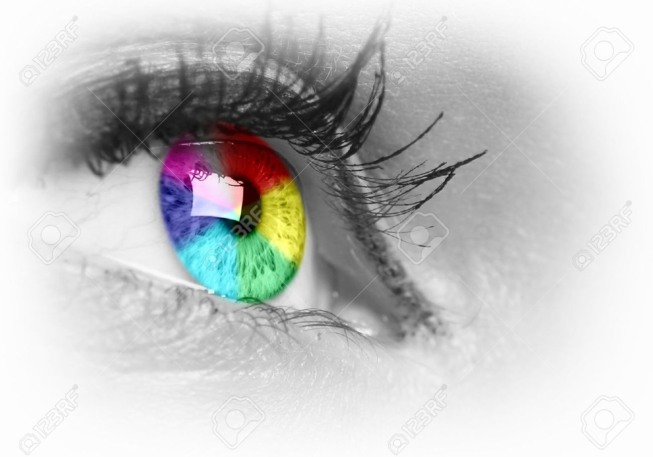 Photo of the human eye against grey background Stock Photo - 15696718