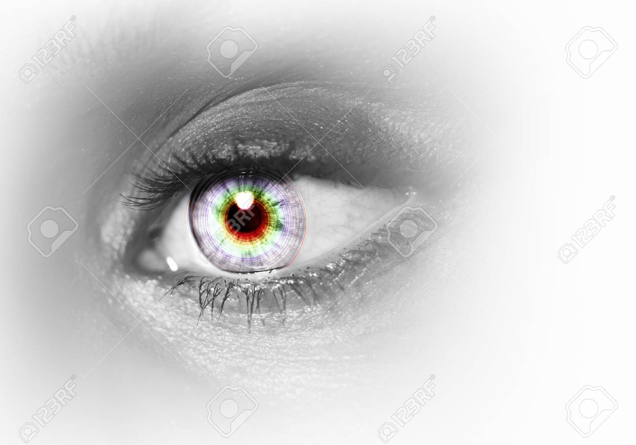 Photo of the human eye against grey background Stock Photo - 15851040