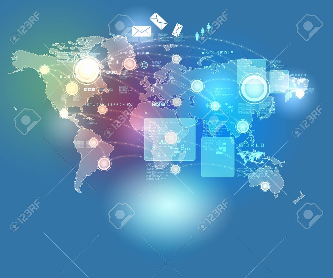 Internet technology concept of global business from concepts series - 16600350