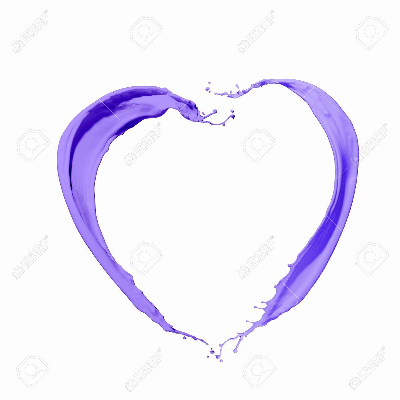 Bright Blue Colour Paint Splash On White Background